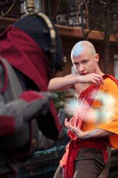 Aang - Airbending, by Twinfools