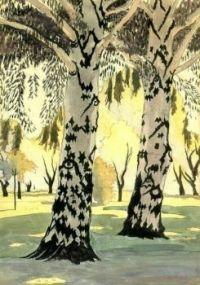 Burchfield Poplars in May by Charles Burchfield