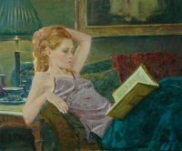 David Hettinger- Girl enjoying her Book