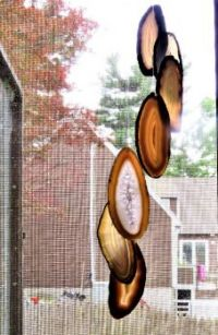 THEME:   ''Rocks, Fossils, Minerals & Crystals''  ~  Sliced Agate Wind Chimes