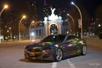 CHRISTIAN'S BLACK HOLOGRAPHIC VINYL WRAPPED CAR