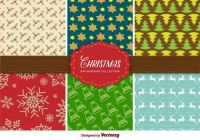 christmas-background-collection-vector