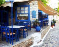 Sidewalk Cafe in Greece