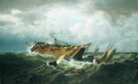 William Bradford--Shipwreck off Nantucket (Wreck off Nantucket after a Storm)