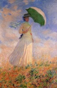 Claude Monet - Woman with a Parasol, facing right, 1886  (Apr177P46)