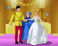 Cinderella at her wedding