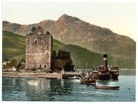 Loch Goil Garrick castle circa 1910 Photochromatic Image