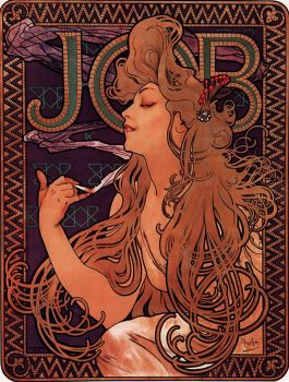 """Job"" (1896) by Alphonse Maria Mucha."