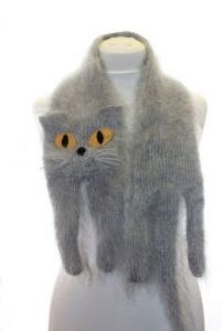 Blue cat scarf - I want one!