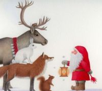 Reindeer, Hare, Fox, Squirrel and Tomte... and a little mouse!