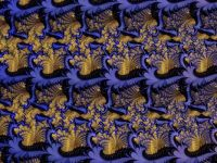 Fractal - blue, gold, black
