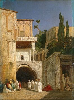 Before a Mosque by Alexandre Gabriel Decamps