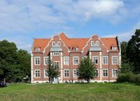 A historical building of the sanatorium in Berlin-Buch