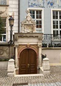 Sunken doorway, Gdansk Poland