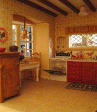 Kitchen in half inch scale dollhouse