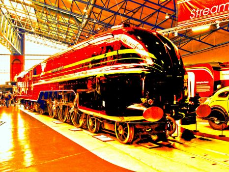 HDR of the 'Duchess of Hamilton', at the National Railway Museum, York - 21st May 2011