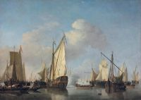 Willem van de Velde the Younger (Dutch, 1633–1707), A States Yacht and Other Vessels in a Very Light Air