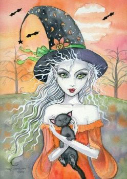 WITCH WITH KITTY