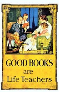 Themes Vintage illustrations/pictures - Good Books are Life Teachers