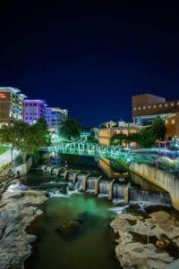 Greenville, SC at night