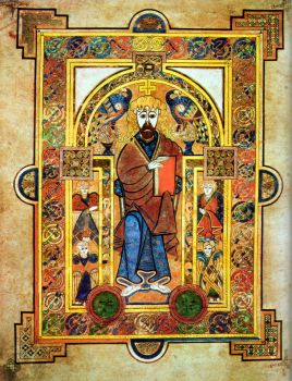 Christ Enthroned, from the Book of Kells