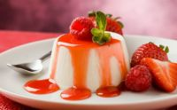 Flan with Berry Drizzle
