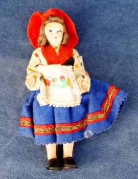 Vintage Traditional Dress Russian Bulgarian Souvenir Doll 1940