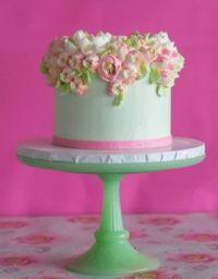 pastel buttercream flower cake