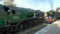 34053 Sir Keith Park and 34027 Taw Valley
