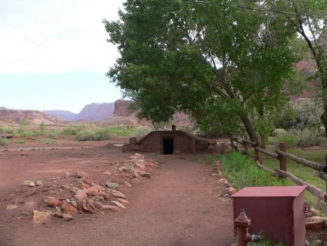 1870s dugout at Lonely Dell Ranch, Arizona