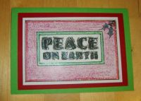 Crafts - Papercraft - Cards - Christmas - Peace on Earth