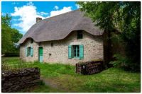 Beautiful Old Grey Stone Cottage with Thatched Roof