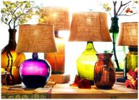 Glass Table Lamps in Colours