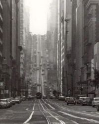 California Street in San Francisco, 1964.
