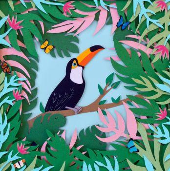 Toucan Paper Art by Sarah Dennis