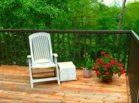 Our sundeck in spring
