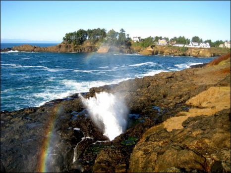 Yesterday - Blow Hole at Depoe Bay, Oregon!