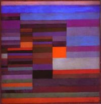 Fire in the Evening by Paul Klee