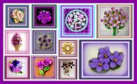 Leftovers - More Purple Brooches
