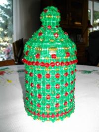 My Daughter made the bead cover for this jar!