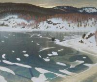 Gustaf Fjaestad, Winter in Vermland, 1902