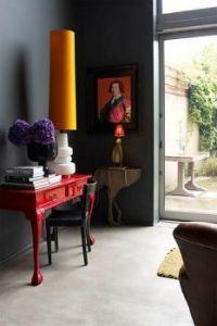 tall yellow lampshade