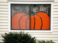 Pumpkin Window Painting