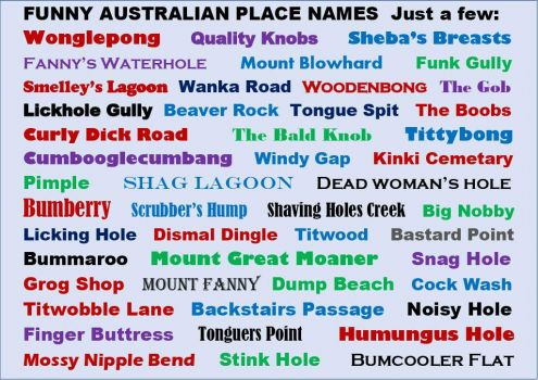 Some Funny Australian Place Names