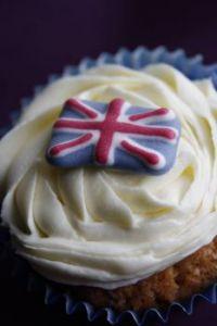 Union Jack Cupcake