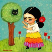 Frida with Cat in a Tree