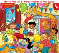 Try to find all six words hidden in this puzzle!!