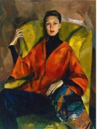 PORTRAIT OF LADY SEATED BY JUDY CASSAB