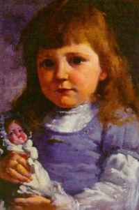 Little girl with her doll (1900)
