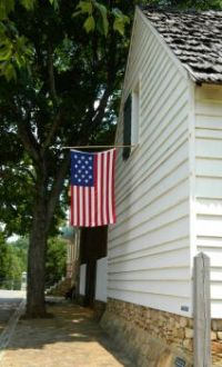 Old Flag in Old Salem